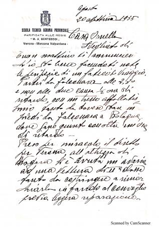 Corrispondenza Augusto Lucaroni (insengnante scuola agraria Marzana)- Ornella Ridolfi
