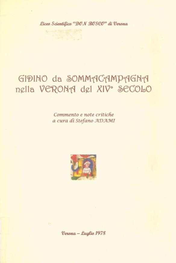 Gidino da Sommacampagna nella Verona del XIV secolo